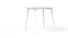 Corner tafel CRV0875M vierkant 80x80cm - 4 poots metalen onderstel