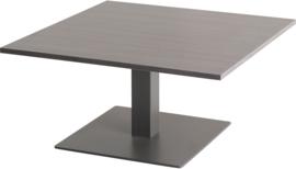 CT3030 Pip lounge tafel vierkant 80x80cm op kolom hoogte 42cm