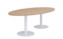 Huislijn Vergadertafel met 2 ronde voeten KL2204 afmeting 160x80 cm