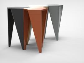 Lande Trigon Hot desk sta tafel