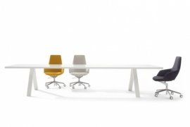 Arper CROSS table | POWDERCOATED | Topdesign van Arper