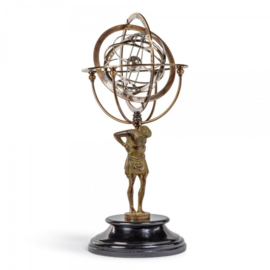 GL051 18th C. Atlas Armillary Authenctic Models