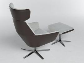 Bert Plantagie Zyba LOW  fauteuil in leder 1