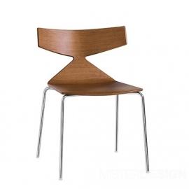 Arper Saya Chair stoel verchroomd stalen 4 poots onderstel