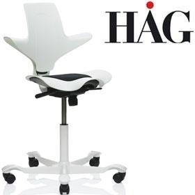 HAG Capisco Puls WHITE edition zadelstoel saddle seat model 8010