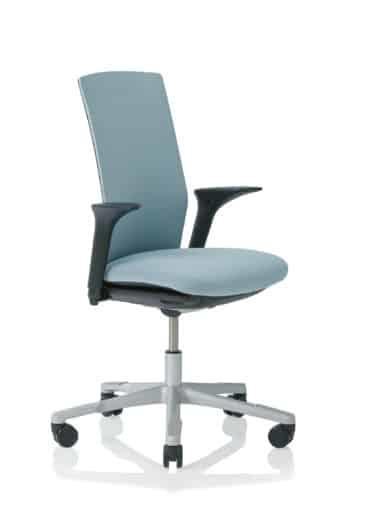 Bureaustoelen: Hag H04 bureaustoel, zwarte stof, zilvergrijs