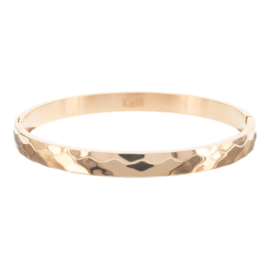 Bangle Stainless Steel Hammered Roségold