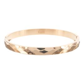 Bracelet Stainless Steel Hamered Roségold