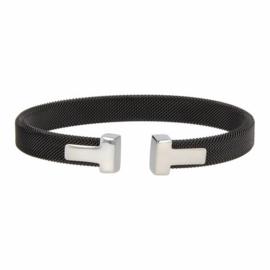 T-Bracelet Black/Silver