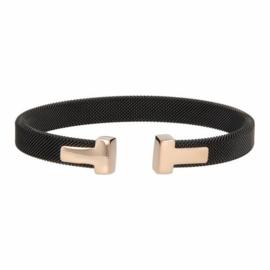 T-Bracelet Black/Rosé