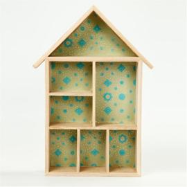 Hout Huisje ( letterhuisje ) 30 x 22 x 3,5 cm