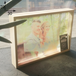 Foto 3D in glas 20 x 30 cm