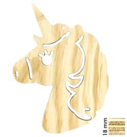 Unicorn hout 2D