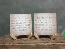 SET: Broer en Zus als  godfather and godmother vragen