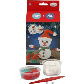 Sneeuwpop knutselpakket van klei