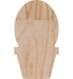 Deco wood cactus bol 28x 16 cm