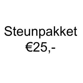 Steunpakket en ontvang €40,- aan (knutsel)spullen