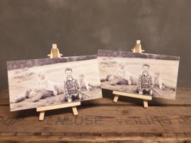 Moederdag actie, 3 stuks foto op hout + ezeltjes