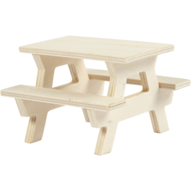Picknicktafel miniatuur