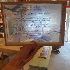 Foto en of tekst in glas 20 x 30 cm