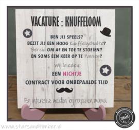 Vacature: Knuffeloom, keuze uit Neefje of Nichtje