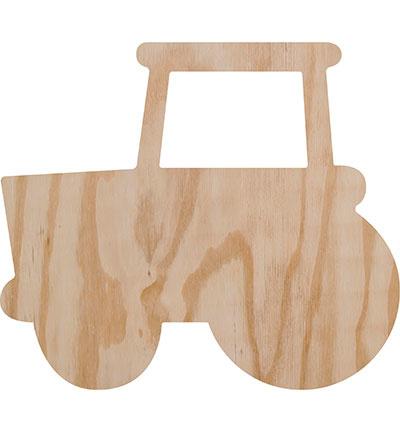 Deco wood tractor 29 x 26 cm