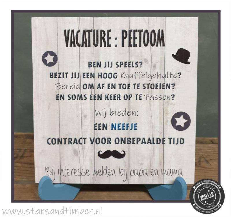 Vacature: Peetoom Neefje