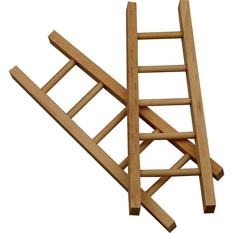 Set ladder, 2 stuks, miniatuur