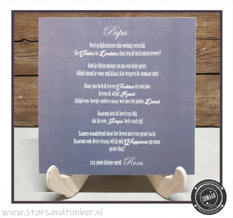 Bruiloft, papa vragen voor weggeven bruid