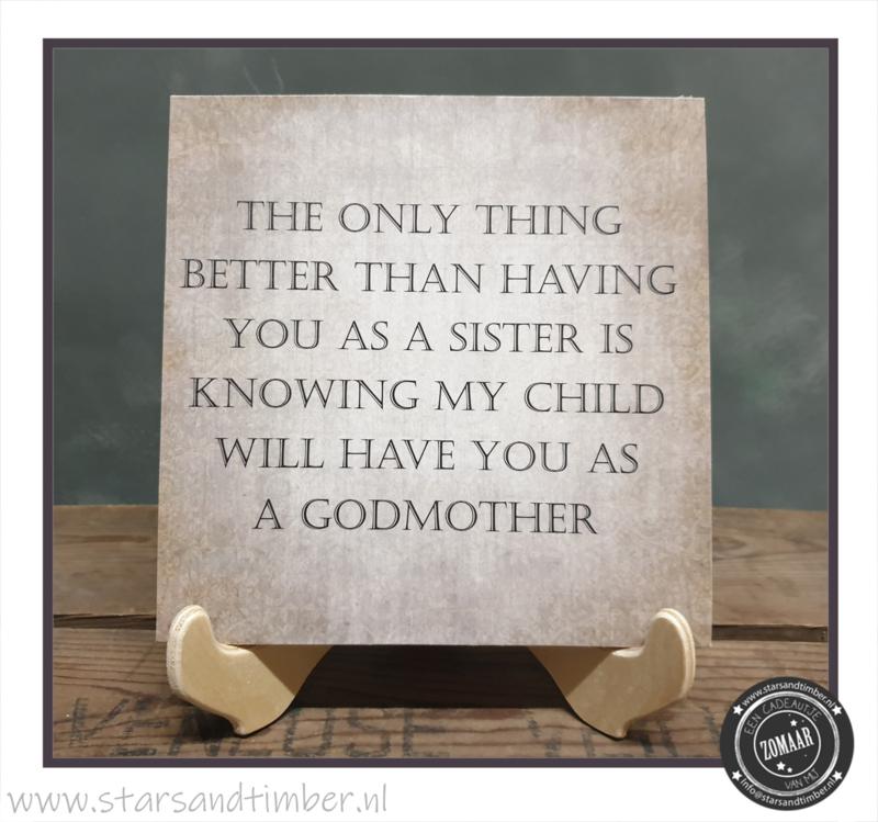 Peettante vragen, Sister as a godmother