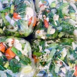 Soepgroenten verpakt per 250 gram