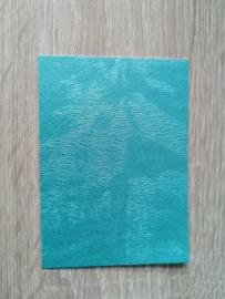 ATC / Pocketletter kaartjes  Kwast Turqoise