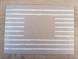 C6 Envelop Flutting grey Stripes