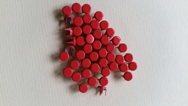 Alleen 50 sierknopjes Lichtrood/ LRed 043