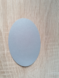 Ovale Ausschnitte 220 grms Silber Perlglanz