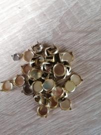 Sierknopjes goud groot plat