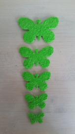Schmetterlinge schaum 2 x 5  Hellgrün