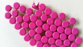 Nür 50 Zierknöpfe Neon Violett 030