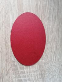 Ovale Ausschnitte 220 grms  Perlglanz Rot