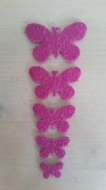 Schmetterlinge schaum 2 x 5 Fuchia