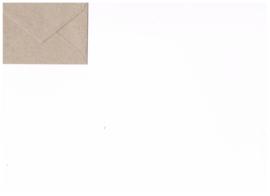 Mini envelop kraftpapier flutting grey