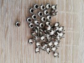 Sierknopjes zilver klein rond