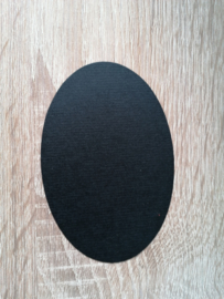 Ovale Ausschnitte 220 grms Schwarz