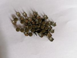 Alleen 50 sierknopjes donkerbruin/donkergroen 049