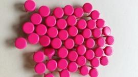Nür 50 Zierknöpfe Neon Pink 025