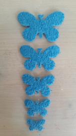 Schmetterlinge schaum 2 x 5  Hellblau