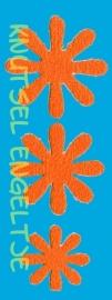 Bloemen Foam 3 x 3 Oranje