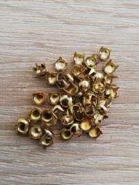 Sierknopjes goud  klein plat