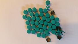 Nür 50 Zierknöpfe Blaugrün 037