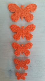 Schmetterlinge schaum 2 x 5 Orange
